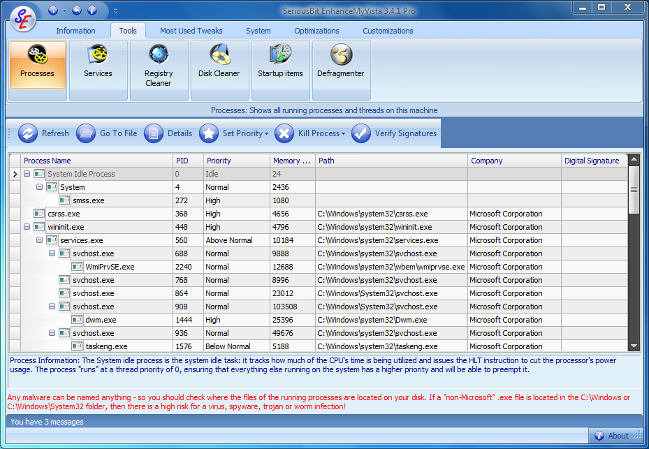 Main Window Screenshot